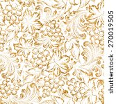 Seamless Pattern Gold Grapes...