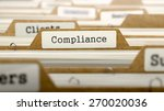 compliance concept. word on... | Shutterstock . vector #270020036