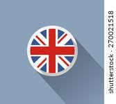 uk flag button icon  | Shutterstock .eps vector #270021518