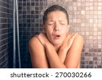 close up bare young woman... | Shutterstock . vector #270030266