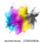 cmyk colored dust cloud on... | Shutterstock . vector #270033836