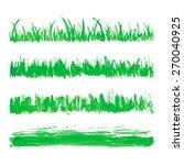 hand drawn watercolor grass set ... | Shutterstock .eps vector #270040925