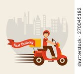 food delivery design  vector... | Shutterstock .eps vector #270045182
