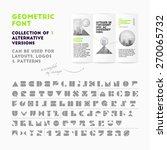 Vector Geometric Font...