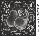 ripe pear vector logo design... | Shutterstock .eps vector #270079145