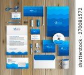 sea blue corporate identity... | Shutterstock .eps vector #270081572