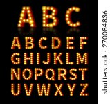 lightbulb font. text and sign ... | Shutterstock . vector #270084836