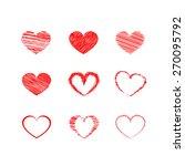 heart vector | Shutterstock .eps vector #270095792