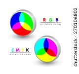 three dimensional rgb and cmyk... | Shutterstock .eps vector #270106802