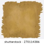 a worn and ruined sheet of... | Shutterstock .eps vector #270114386