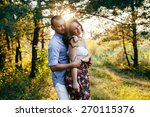 young couple in love  | Shutterstock . vector #270115376