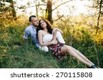 young couple in love  | Shutterstock . vector #270115808