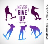 vector watercolor skateboarder...   Shutterstock .eps vector #270120572