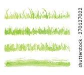 hand drawn watercolor grass set ... | Shutterstock .eps vector #270127022