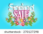 spring sale with spring flower... | Shutterstock .eps vector #270127298