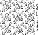 seamless pattern with branches... | Shutterstock .eps vector #270137408