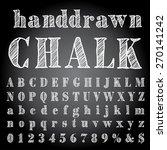 vector hand drawn chalk alphabet | Shutterstock .eps vector #270141242