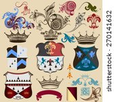 vector set of vintage elements... | Shutterstock .eps vector #270141632