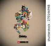 abstract vector illustration... | Shutterstock .eps vector #270146948