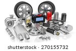 various car parts and... | Shutterstock . vector #270155732