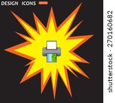 color photo printer. icon.... | Shutterstock .eps vector #270160682