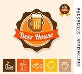 label with beer mugs and the...   Shutterstock .eps vector #270163196