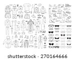 big hand drawn collection of...   Shutterstock .eps vector #270164666