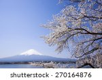mount fuji and cherry tree | Shutterstock . vector #270164876