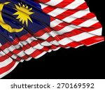 malaysia flag with black | Shutterstock . vector #270169592