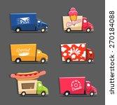 vector set of trucks with... | Shutterstock .eps vector #270184088
