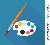 palette and paintbrush   flat... | Shutterstock .eps vector #270186452