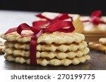 stack of delicious cookies on... | Shutterstock . vector #270199775