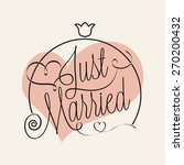 just married hand lettering for ... | Shutterstock .eps vector #270200432