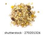 heap of muesli isolated on... | Shutterstock . vector #270201326