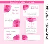 wedding watercolor set.... | Shutterstock .eps vector #270202808