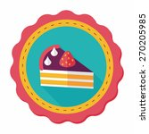 birthday cake flat icon with... | Shutterstock .eps vector #270205985