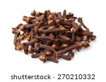 dried cloves on white background | Shutterstock . vector #270210332