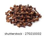 dried cloves on white background | Shutterstock . vector #270210332