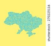 blue ukrainian map from dots.... | Shutterstock .eps vector #270225116