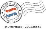 postal grunge stamp ... | Shutterstock .eps vector #270235568