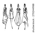 fashion models silhouettes ... | Shutterstock .eps vector #270244988