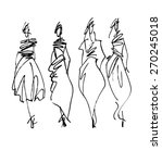 fashion models silhouettes ... | Shutterstock .eps vector #270245018