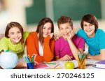 classroom  group  youngster. | Shutterstock . vector #270246125