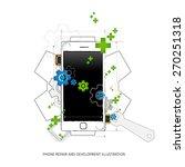 mobile repair and development... | Shutterstock .eps vector #270251318