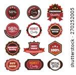 vector vintage badges  stickers ... | Shutterstock .eps vector #270252005