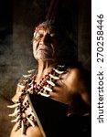 shaman in ecuadorian amazonia... | Shutterstock . vector #270258446