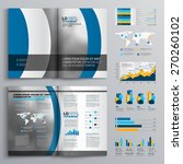 brochure template design with... | Shutterstock .eps vector #270260102