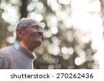 portrait of a happy grandpa... | Shutterstock . vector #270262436