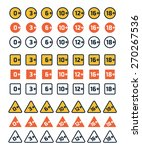 set of the age rating icons.... | Shutterstock .eps vector #270267536