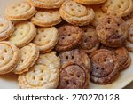 in the form of buttons cookies | Shutterstock . vector #270270128